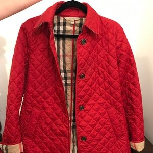 Burberry Brit Red Quilted Jacket